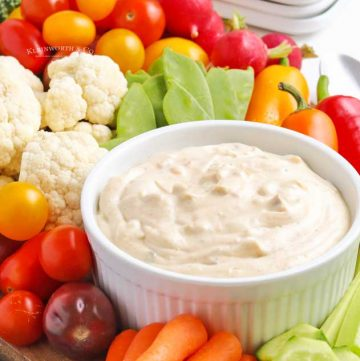 appetizer dip vegetables