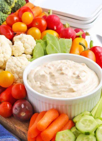 appetizer dip vegetables