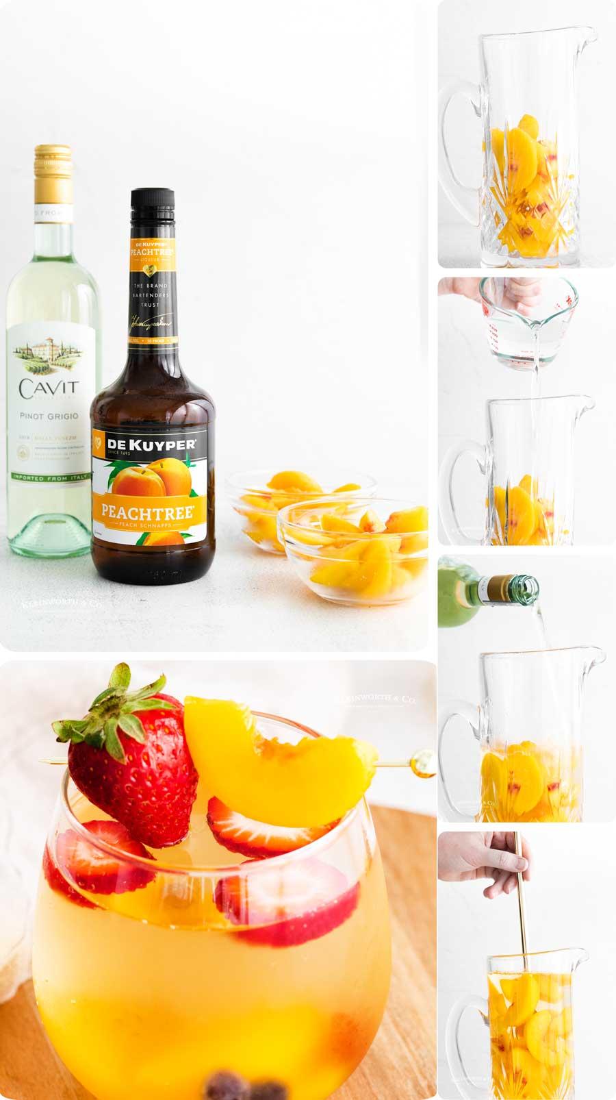 how to make White Peach Sangria