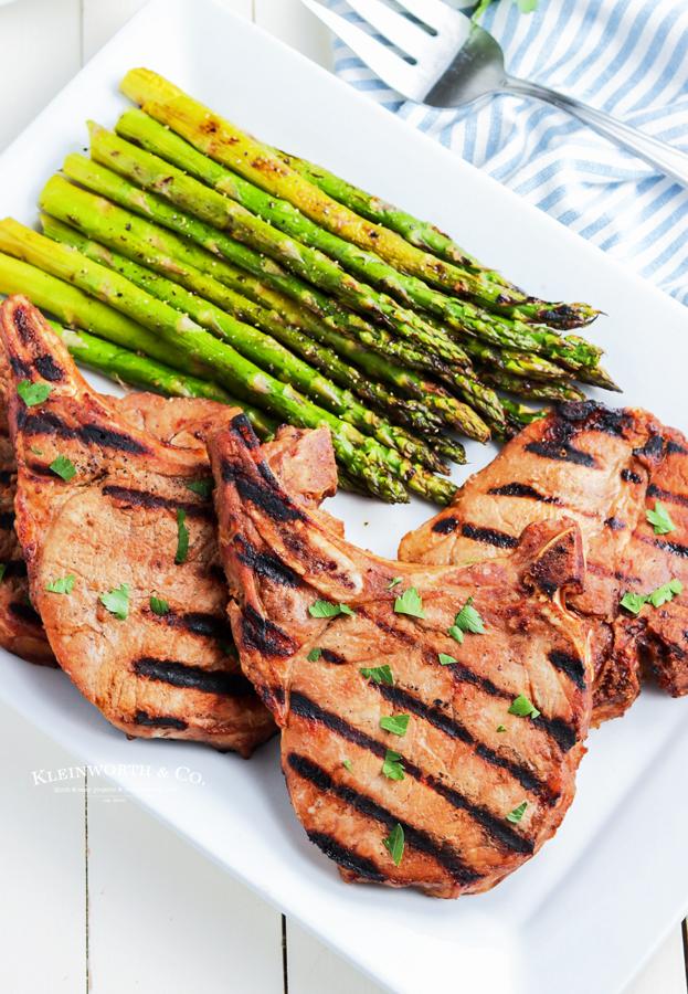 gas grill pork chops