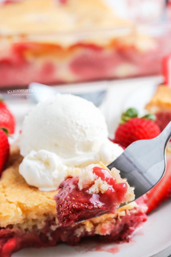 strawberry holiday dessert- cobbler