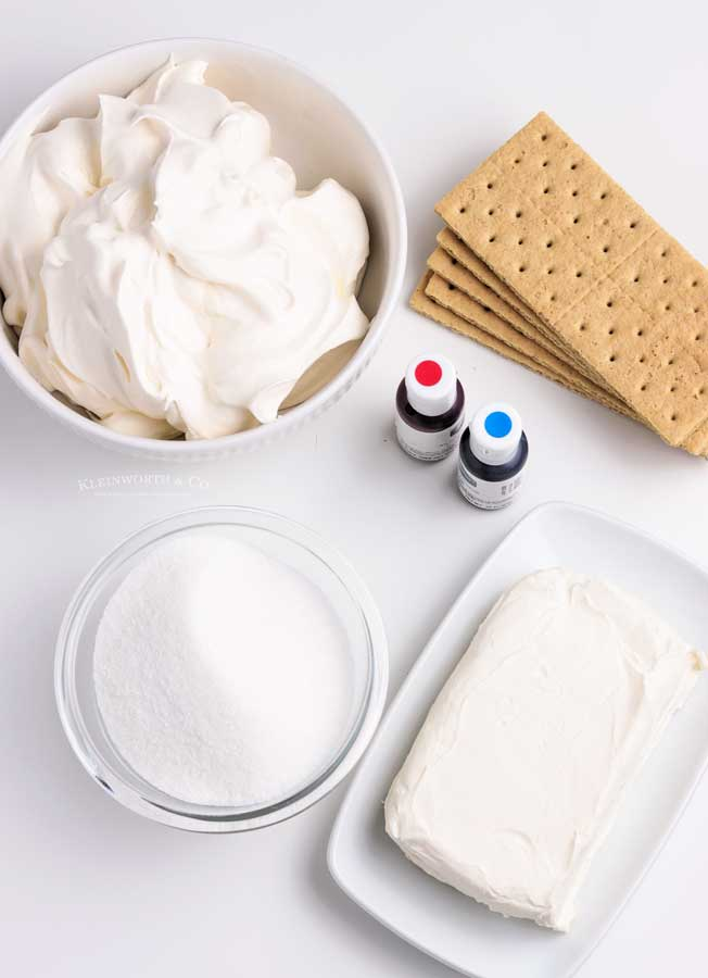 ingredients for No-Bake Cheesecake Cups