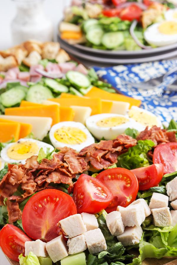 homemade chef salad