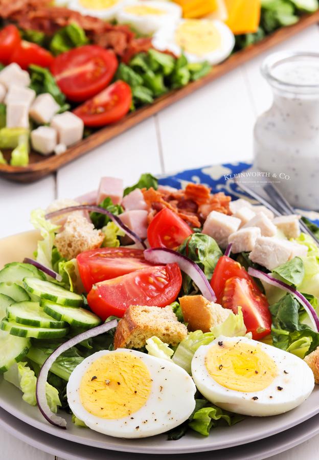 plated chef salad
