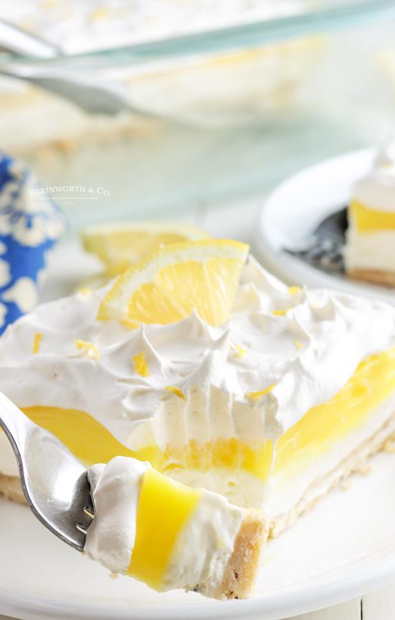 Lemon Lush with cream cheese