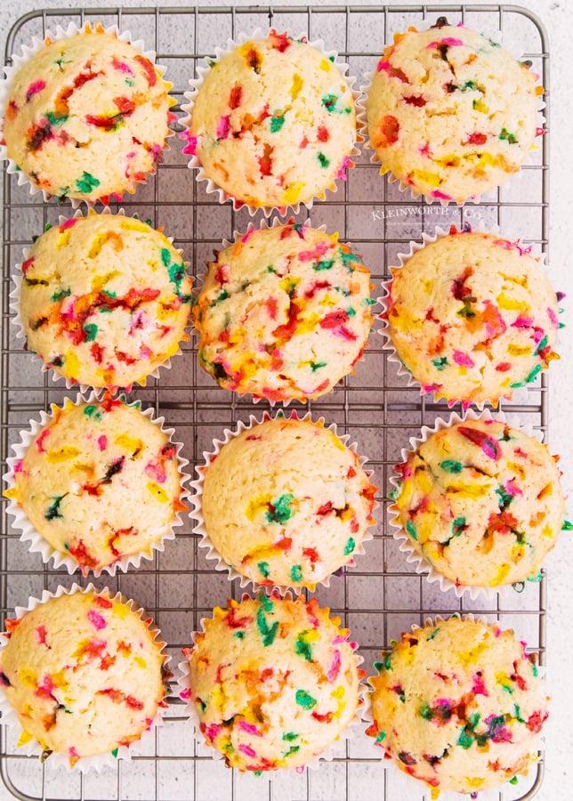 baked Funfetti cupcakes