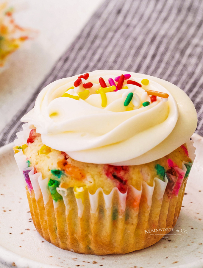 Funfetti Cupcakes with Cream Cheese Frosting