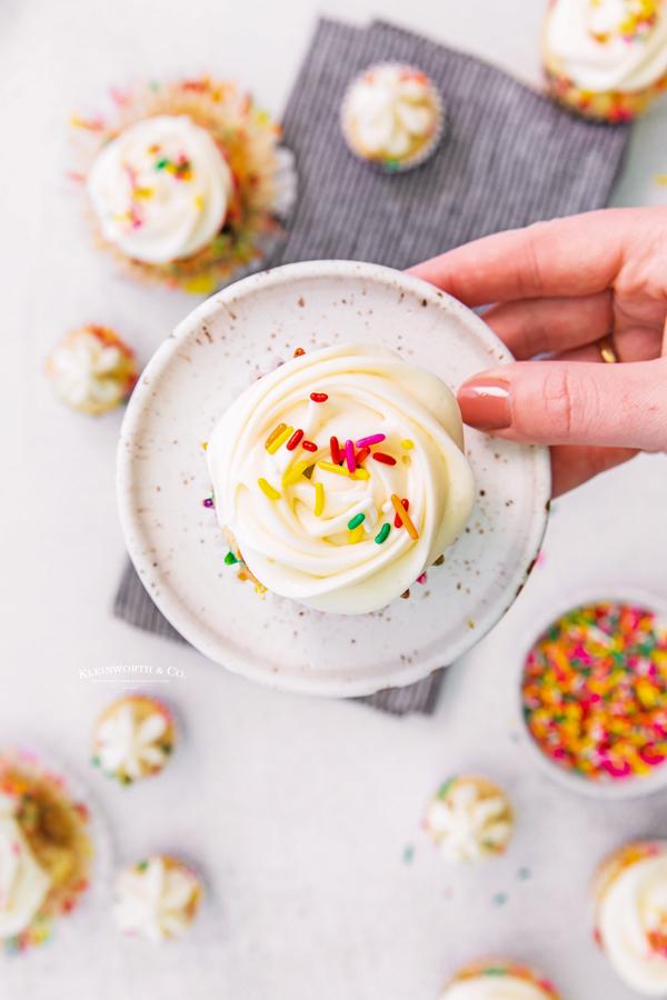 homemade confetti cupcake