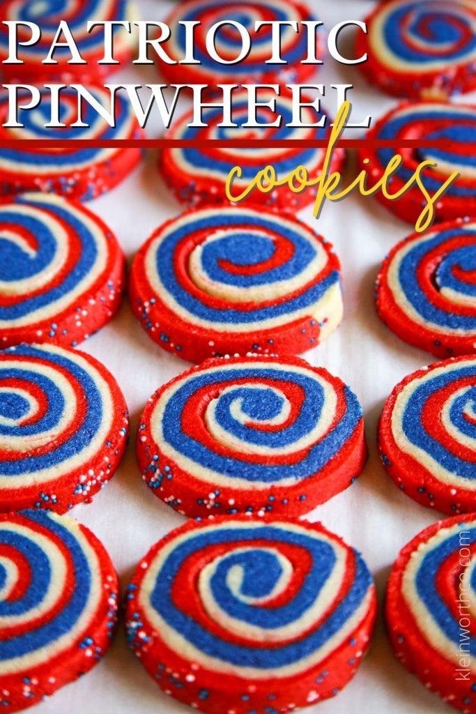Patriotic Pinwheel Cookies