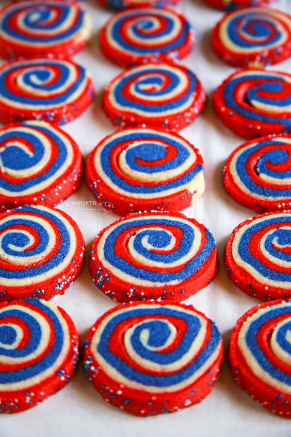 baked pinwheel cookies