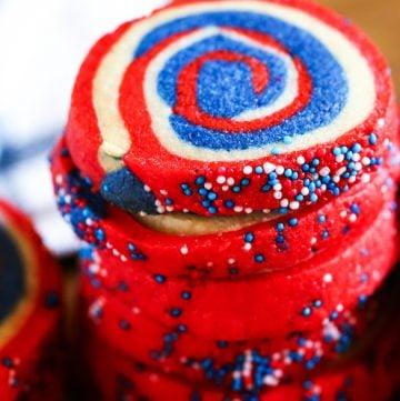 pinwheel cookies with sprinkles