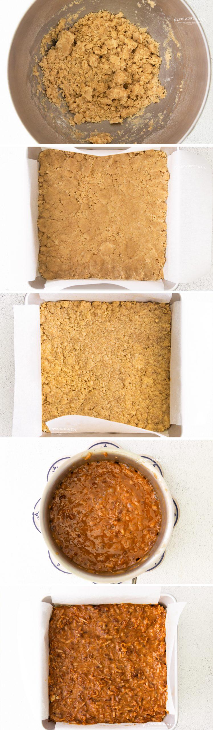 how to make Samoa Cookie Bars