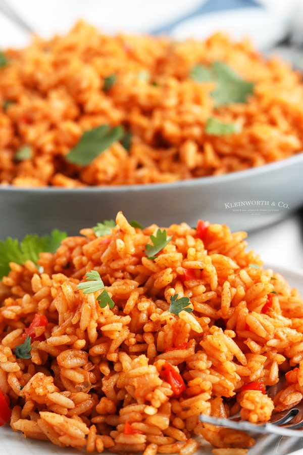 spanish rice on a plate