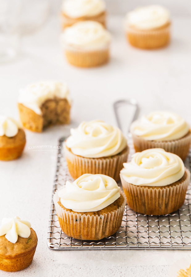 frosted zucchini cupcakes