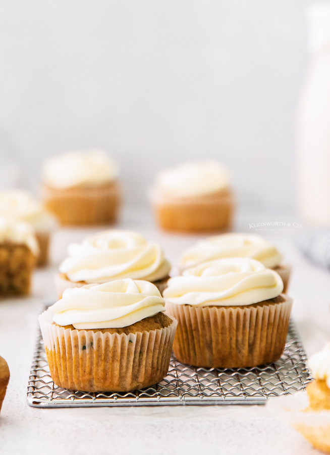 recipe for Zucchini Cupcakes with Cream Cheese Frosting