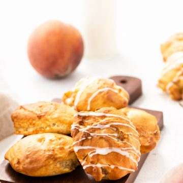 glazed peach fritters