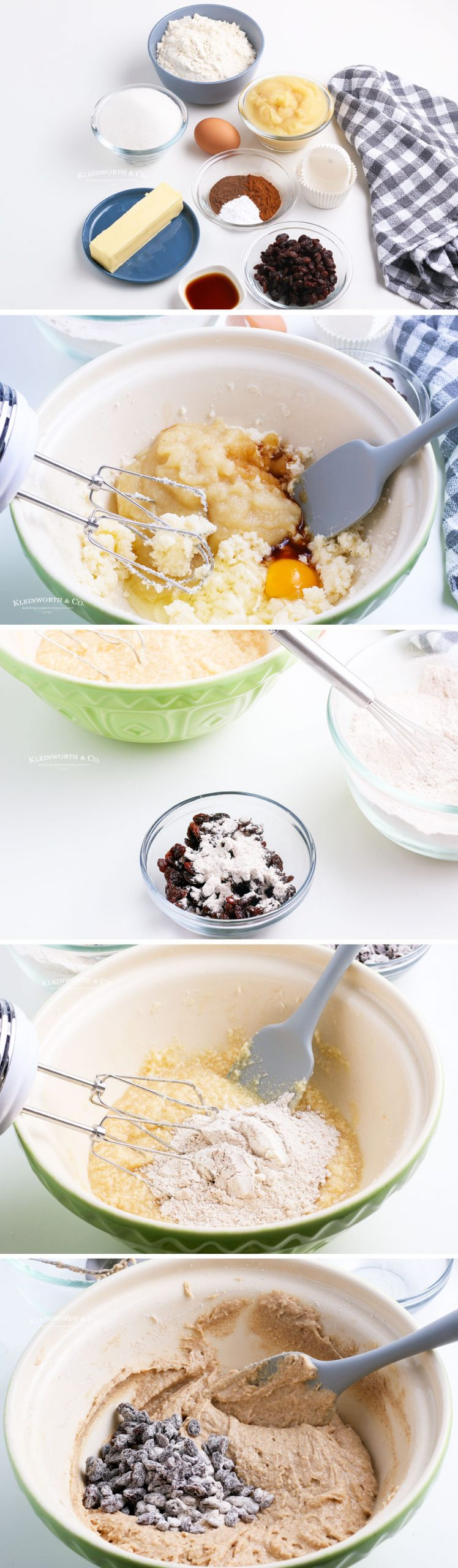 How to make Applesauce Muffins