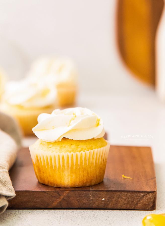 filled lemon cupcake