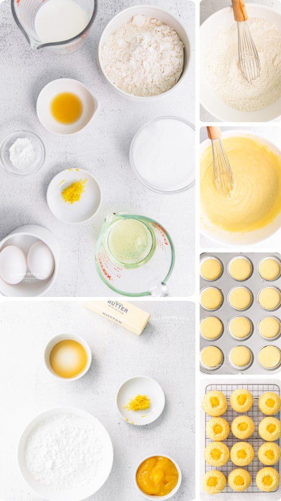 how to make Lemon Curd Cupcakes