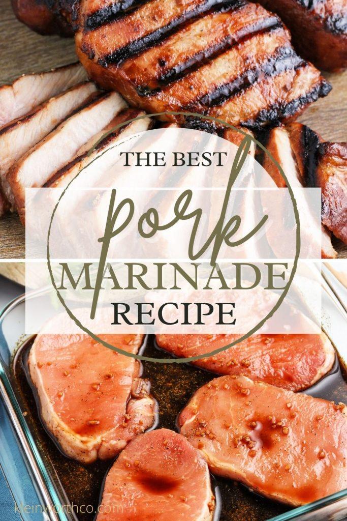 The Best Pork Marinade