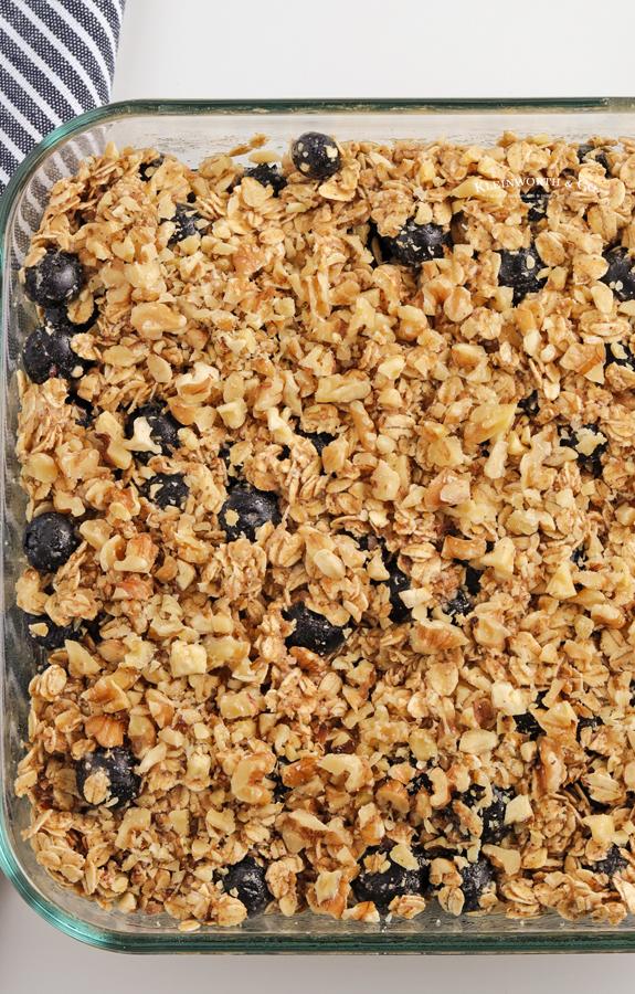 oatmeal in a pan