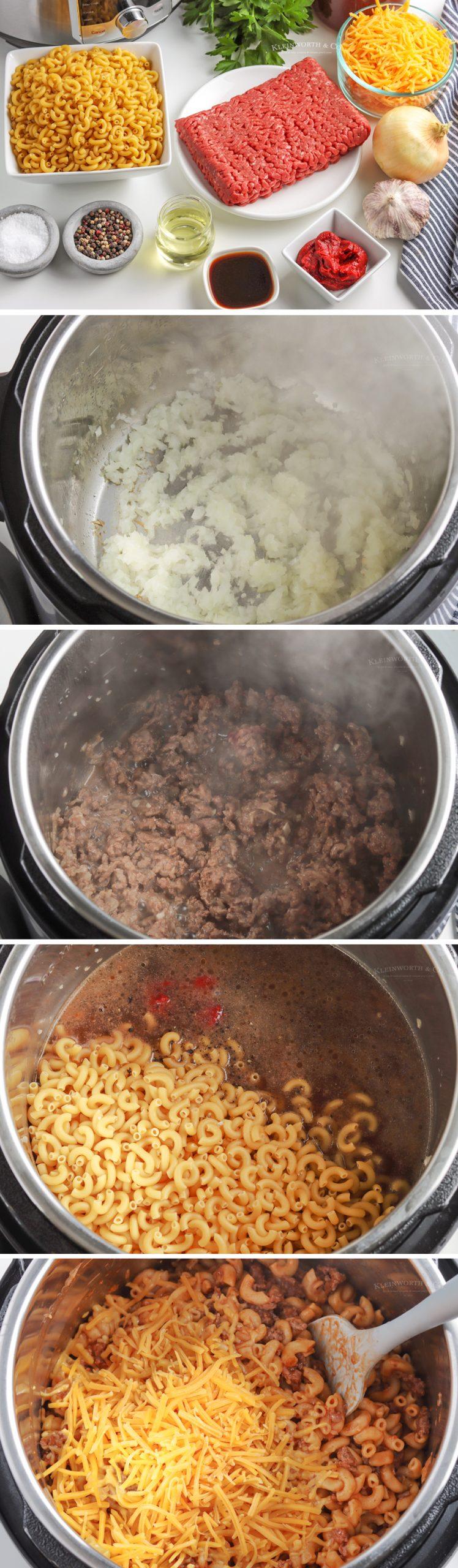 how to make Instant Pot Hamburger Helper