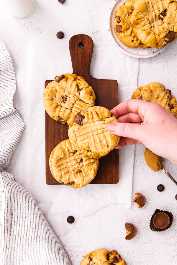 reese's cookies with peanut butter cups