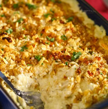 baked chicken casserole with crackers
