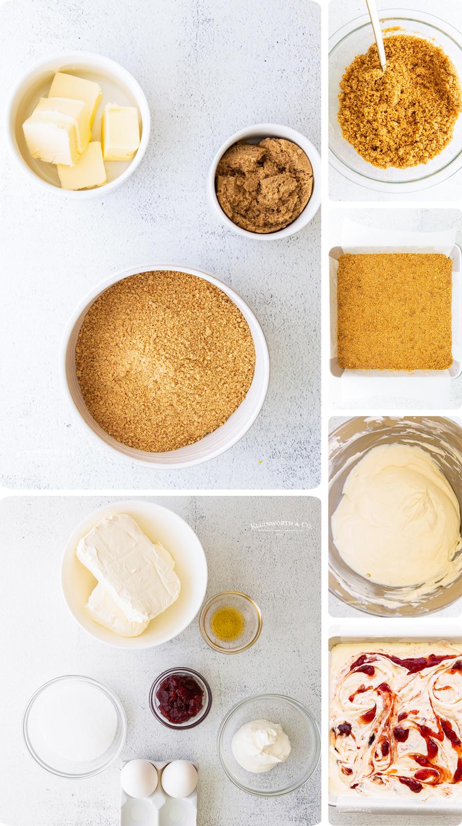 how to make Strawberry Cheesecake Bars