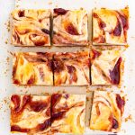 squares of strawberry cheesecake