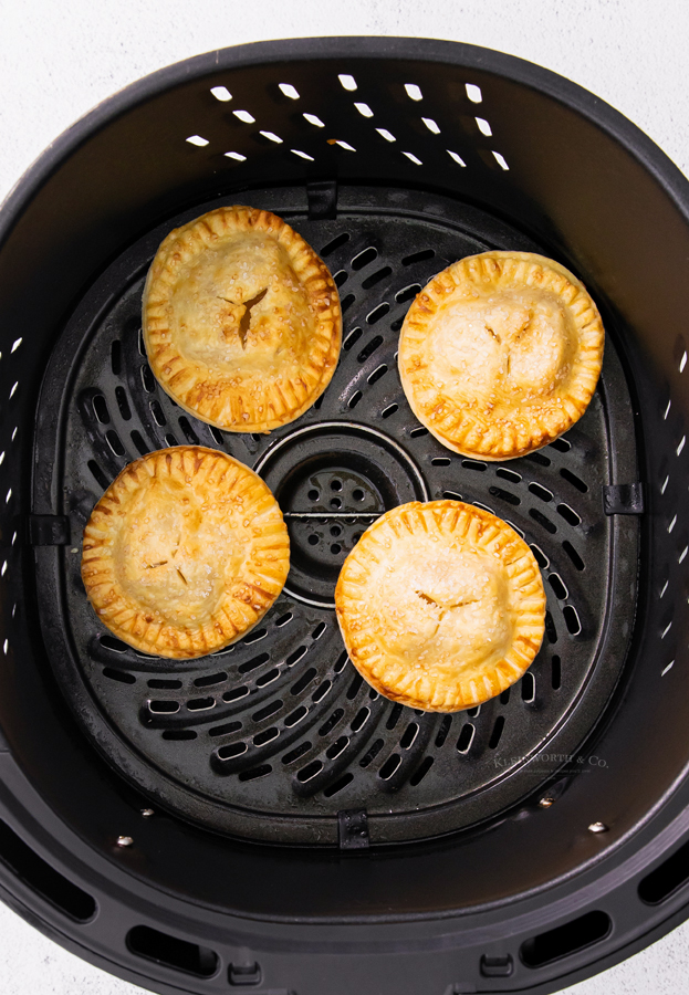 cooked hand pies in the air fryer