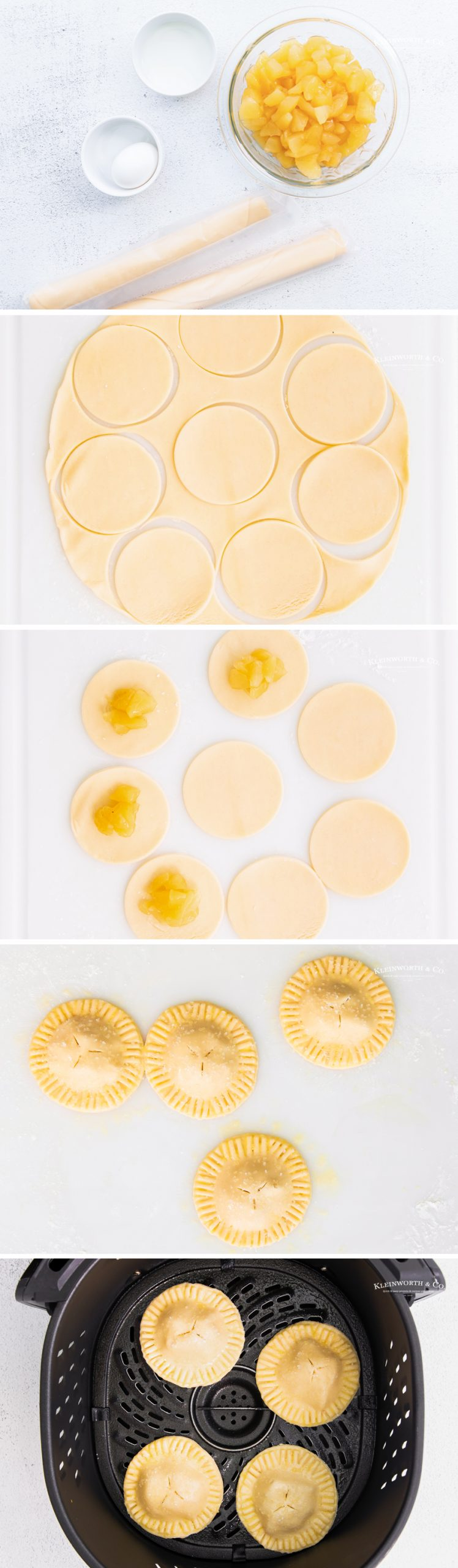 how to make Air Fryer Apple Hand Pies