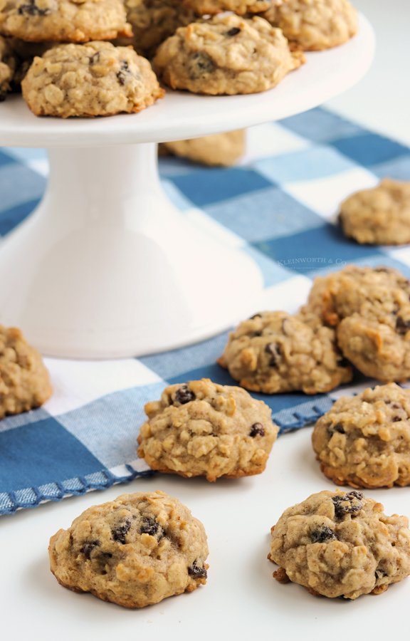 no chill oatmeal cookies with raisins