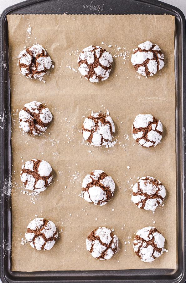 Baked Crinkle Cookies