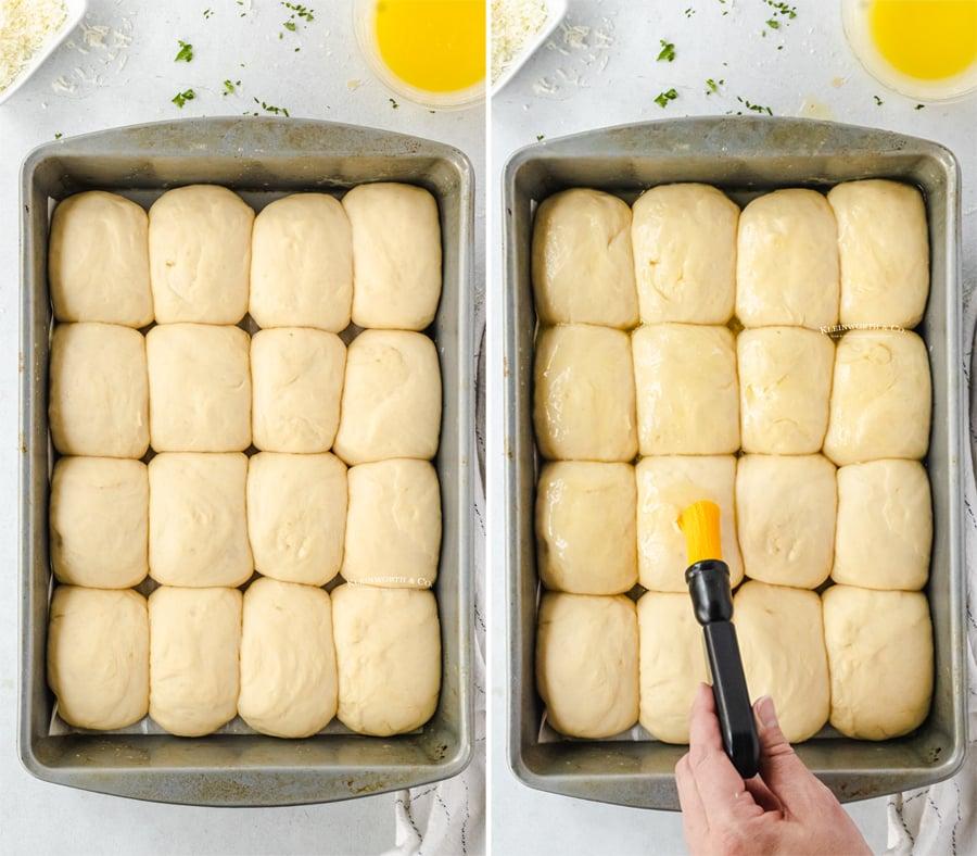 adding butter while rising - dinner rolls