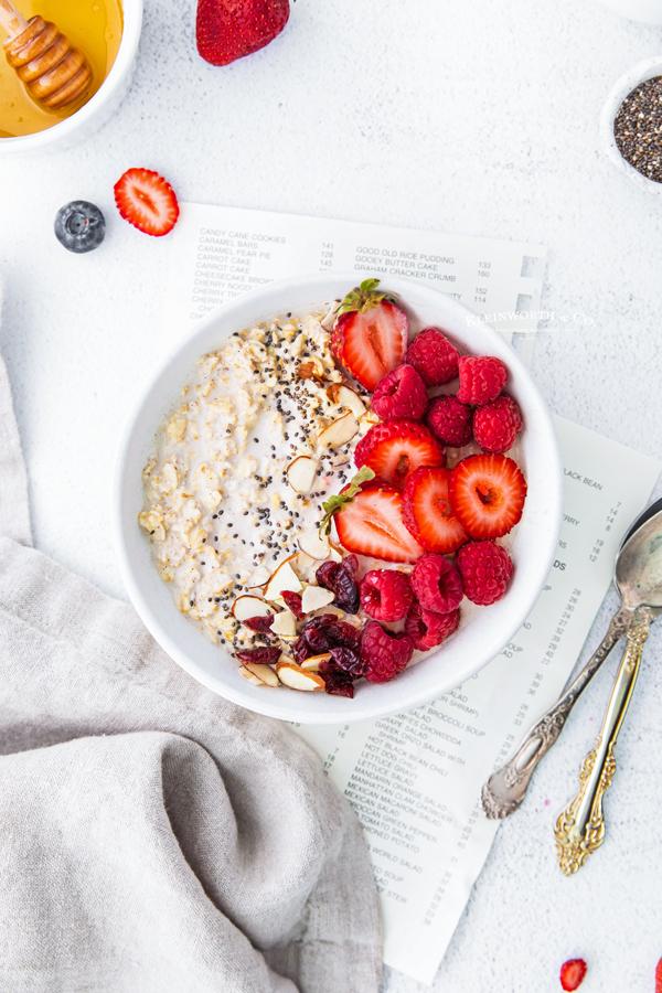 recipe for refrigerator oatmeal