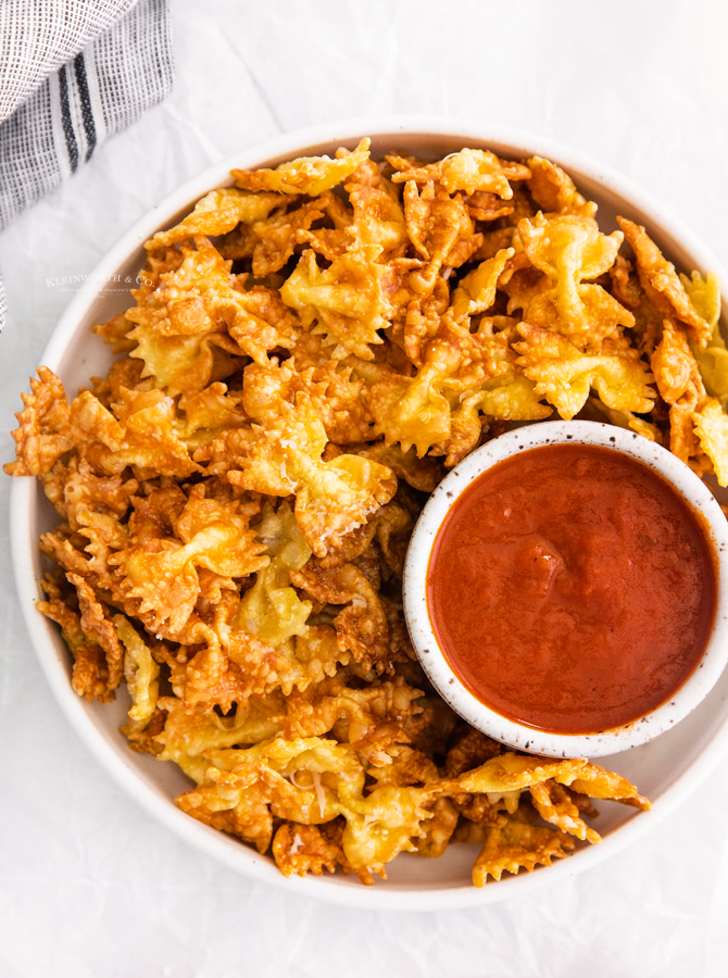 recipe for Parmesan Pasta Chips