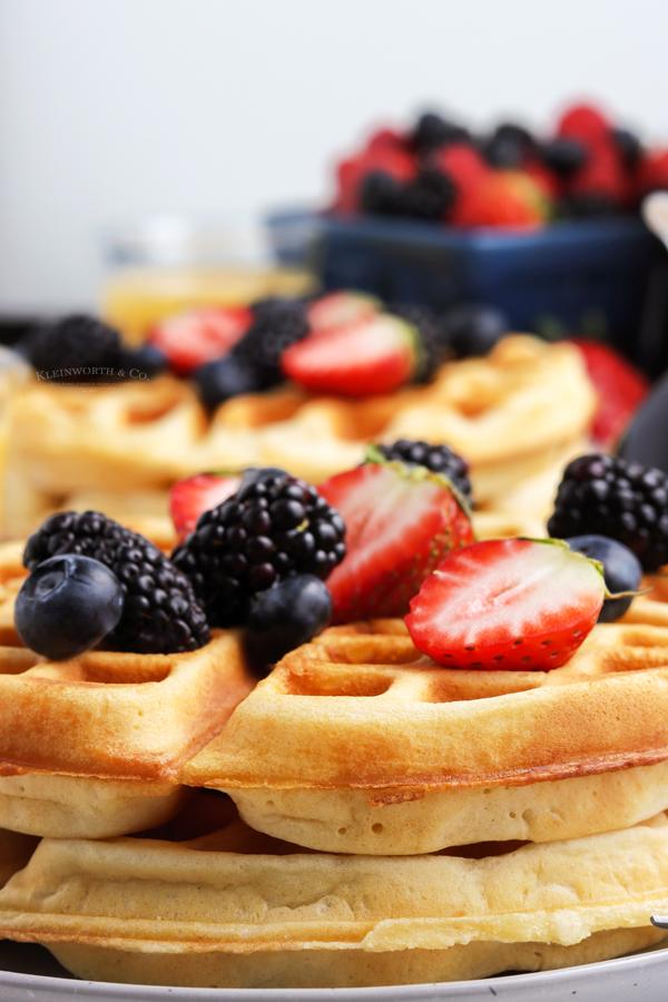 Belgian waffles at home