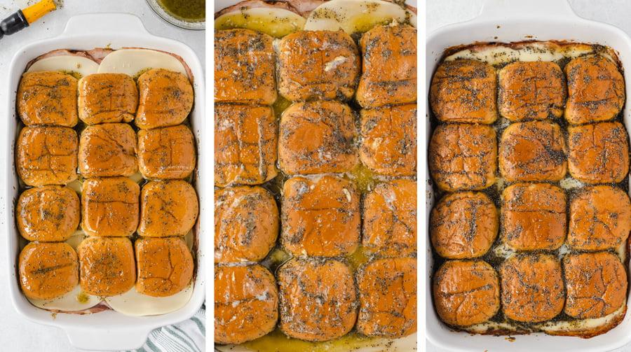 baking Poppy Seed Ham and Cheese Sliders