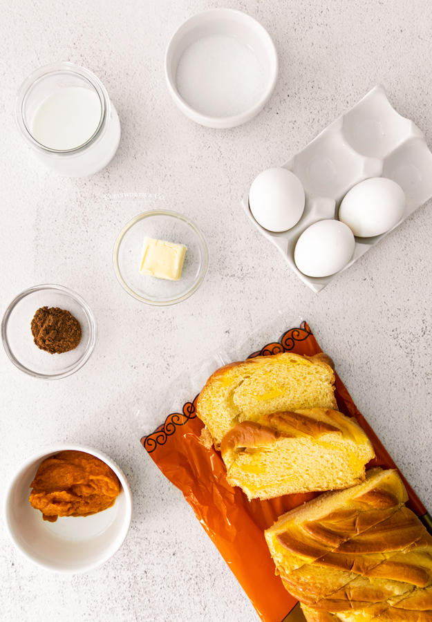 ingredients for Pumpkin French Toast