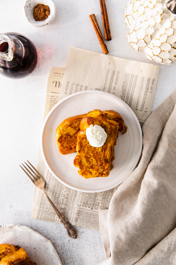 pumpkin toast brioche