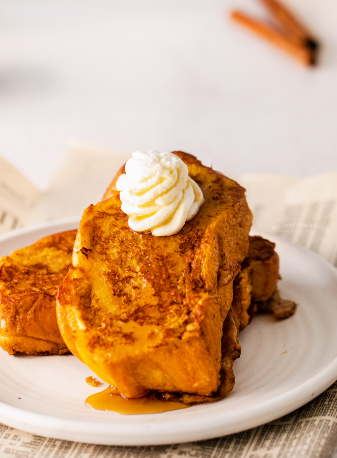 whipped cream with pumpkin toast