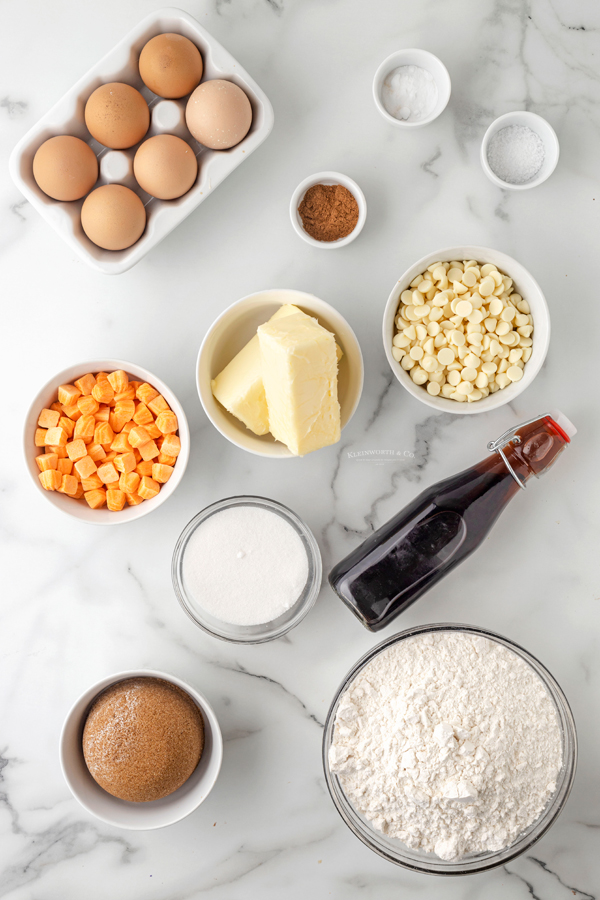 ingredients for Pumpkin Spice Cookies