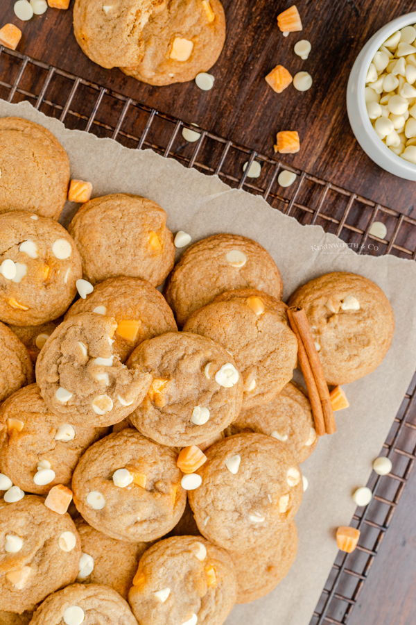 soft and chewy fall cookies