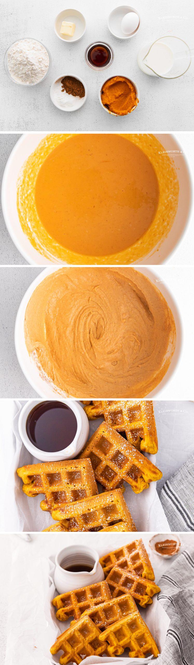 how to make Pumpkin Waffles