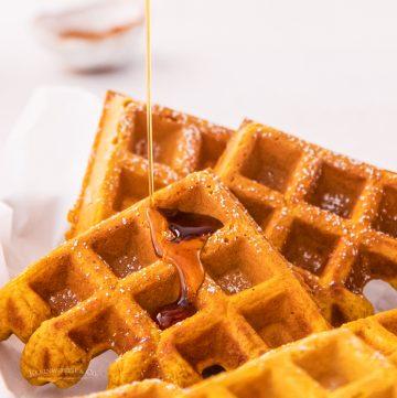 fall breakfast waffles