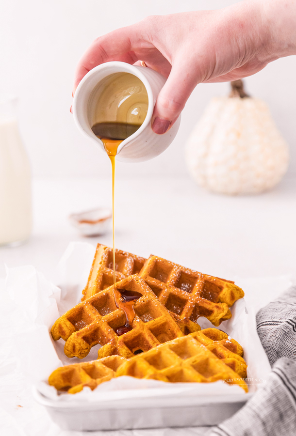 syrup on waffles
