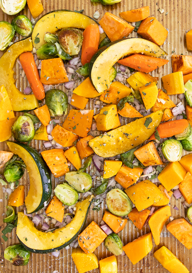 baked fall vegetables