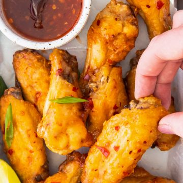 air fried chili wings
