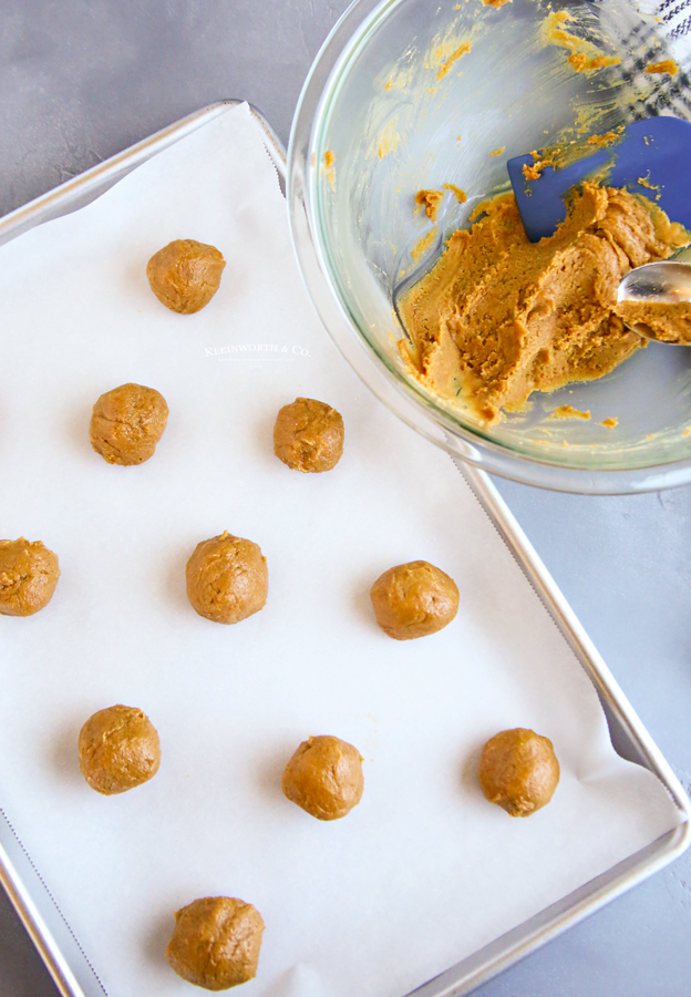 rolled dough for Peanut Butter Cookies